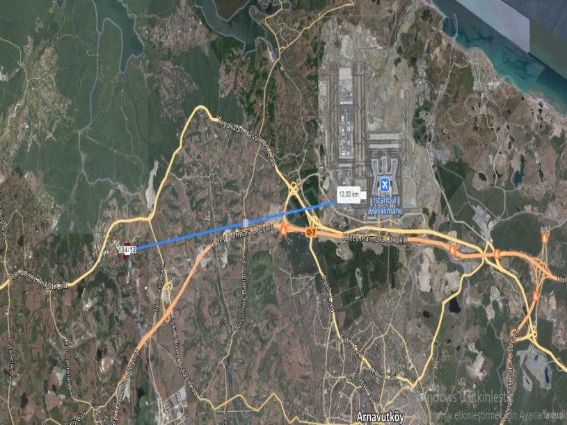 Çatalca Kızılcaali,de Satılık Arsa , 1,150 m2 Çaplı Cadde Cephe
